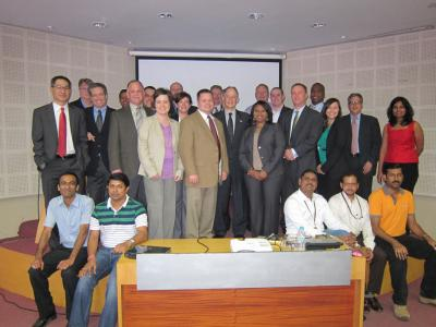 The EMIL-SCS class of 2012 during a site visit to the Future Supply Chain Group in Mumbai, India