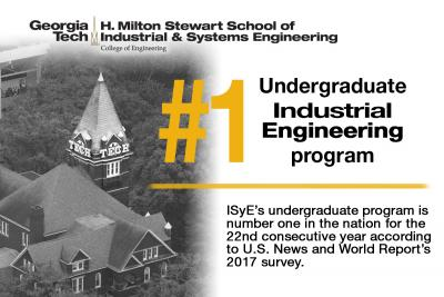 22 years as the No. 1 undergraduate IE program in the U.S.