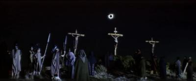 The crucifixion scene from 1961's Barabbas, filmed during the Feb. 15, 1961, total solar eclipse (Photo by Columbia Pictures)