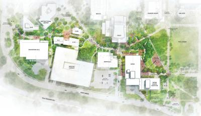 Rendering of the proposed Campus Center