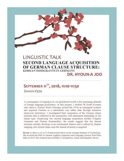 Linguistic Talk - Second Language Acquisition of German Clause Structure: Korean Immigrants in Germany