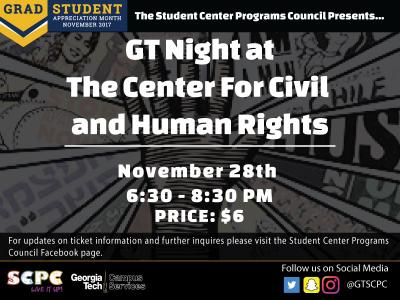 SCPC GT Night at the Center for Civil and Human Rights