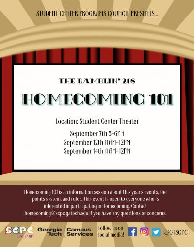 GT Homecoming 101 Marketing