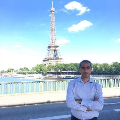 Fouts Family Early Career Professor Kamran Paynabar visited Paris when he taught at GT-Lorraine.