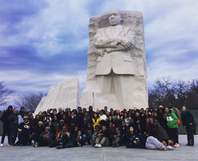 Yellow Jackets at Martin Luther King Jr. Memorial. Photo by Jennifer Glass.