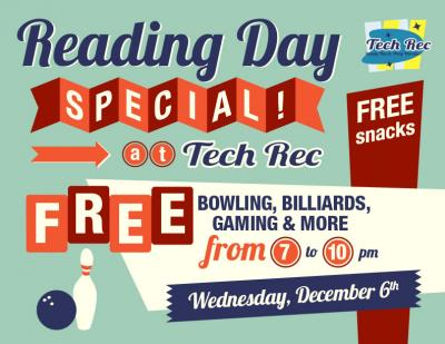 Tech Rec Reading Day Special