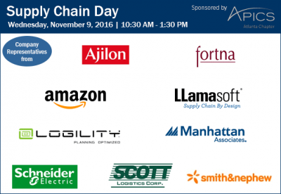 SCL November 2016 Supply Chain Day