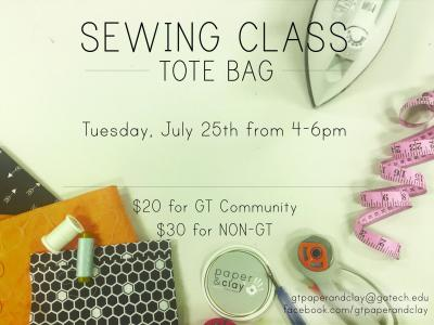 Tote Bag Sewing Class