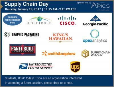 SCL January 2017 Supply Chain Day