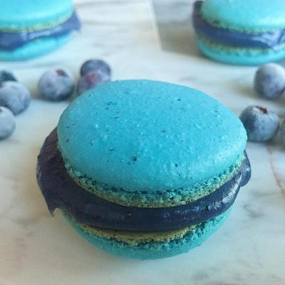 Shannon Gerhard's blueberry macarons