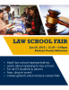 Flyer of students attending the GT Law School Fair
