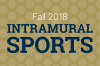Fall 2018 Intramural sports graphic.