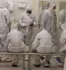 GSMST Students in the gowning area of the GT IEN Cleanrooms