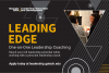 Advertisement for students to apply for the Leading Edge program.