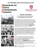 Photos of protesters throughout history, along with information on a conference and the Mississippi State University logo.