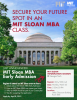 Photo of MIT with information on the MBA program.