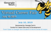 Buzz logo with information on the summer 2019 virtual career fair