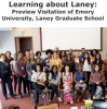 Group photo of participants in the Learning about Laney visitation at Emory University.