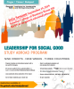 Flyer for the Leadership for Social Good Study Abroad