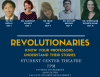 Photos of professors advertising the Revolutionaries Speakers Series
