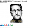 "Dust jacket for ""Permanent Record"" by Edward Snowden."