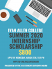 Advertisement for summer scholarship for internships for Ivan Allen students