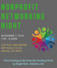 Flyer for nonprofit networking night at Emory University
