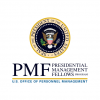 "Presidential seal above the letters ""PMF"" and the words ""Presidential Management Fellows Program"" and ""US Office of personnel Management"""