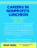 Flyer for the Nunn School Careers in Nonprofits Luncheon