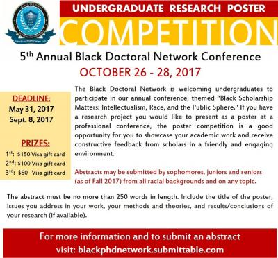 Black Doctoral Network Undergraduate Research Poster Competition