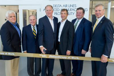 Delta, Georgia Tech Leaders Cut Ribbon on New Advanced Manufacturing Facility