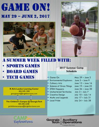 Camp Explorations — Game On Flyer