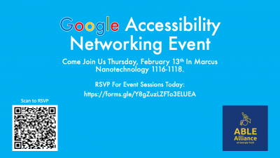 Google Accessibility Networking Event on Feb. 13, 2020