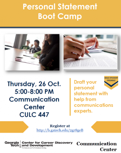 Personal Statement Bootcamp