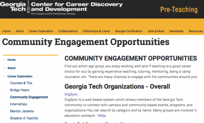 Community Engagement Page
