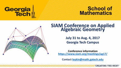 SIAM Conference on Applied Algebraic Geometry