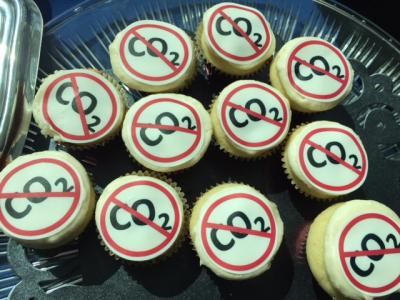 Carbon reduction cupcakes! (Photo by Renay San Miguel)