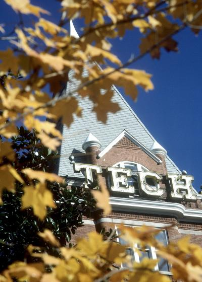 Tech Tower in the Fall