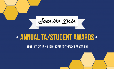 Save The Date (Student/TA Awards)