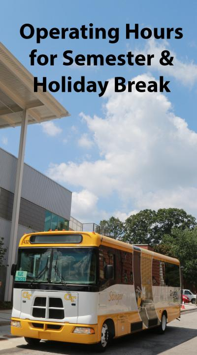 Operating Hours for December Holiday Break