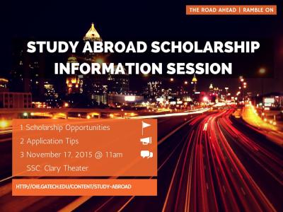 Study Abroad Scholarships Info Session 3