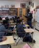 In February, Freeman had an interactive discussion with a class of 10th graders for their Black History Month Celebration.