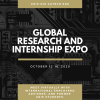Flyer for the Global Research and Internship expo to be held virtually on October 12-16, 2020.