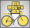 Big Mouth Ben logo (yellow bicycle and text)