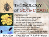 Advertisement for BIOL 1220, the Biology of Sex and Death