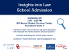 Insights into Law School Admission Event Advertisement