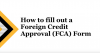 Screenshot of the how to fill out a foreign credit approval form video