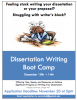Flyer for the Dissertation Writing Boot Camp