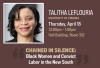 Advertisement for Talitha LeFlouria talk on 4/18