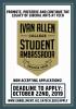 Shield with information encouraging students to become Ivan Allen College ambassadors